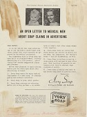 view An Open Letter to Medical Men About Soap Claims in Advertising. [Print advertising.] Canadian Medical Association Jou digital asset: An Open Letter to Medical Men About Soap Claims in Advertising. [Print advertising.] Canadian Medical Association Jou 1939