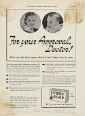 view For your Approval, Doctor! [Print advertising.] digital asset: For your Approval, Doctor! [Print advertising.] 1939