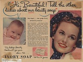view Hi Beautiful! Tell the other ladies about our beauty soap. [Print advertising.] This Week digital asset: Hi Beautiful! Tell the other ladies about our beauty soap. [Print advertising.] This Week. 1939