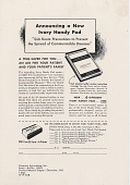 view Announcing a New Ivory Handy Pad. [Print advertising.] Current Medical Digest digital asset: Announcing a New Ivory Handy Pad. [Print advertising.] Current Medical Digest. 1951