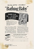 view Bathing Baby. [Print advertising.] Current Medical Digest digital asset: Bathing Baby. [Print advertising.] Current Medical Digest. 1954
