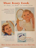 view That Ivory Look / so clear..so fresh...so easily yours. [Print advertising.] digital asset: That Ivory Look / so clear..so fresh...so easily yours. [Print advertising.] 1956.