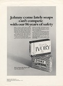 view Johnny come lately soaps can't compete with our 86 years of safety. [Print advertising. Hospital management publications,] digital asset: Johnny come lately soaps can't compete with our 86 years of safety. [Print advertising. Hospital management publications,] 1967.