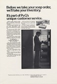 view Before we take your soap order, we'll take your inventory. [Print advertising.] Hospital management publications digital asset: Before we take your soap order, we'll take your inventory. [Print advertising.] Hospital management publications 1973