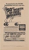 view {dollar}50.00 worth of free groceries. [Print advertising.] Newspapers digital asset: {dollar}50.00 worth of free groceries. [Print advertising.] Newspapers. 1976