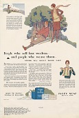 view People who sell fine woolens--and people who weave them--.. [Print advertising.] digital asset: People who sell fine woolens--and people who weave them--.. [Print advertising.] 1928
