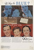 view Why Be BLUE? [Print advertising.] General circulation publications digital asset: Why Be BLUE? [Print advertising.] General circulation publications 1934