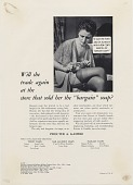 view Will she trade again at the store that sold her the.. [Print advertising.] Grocery trade papers digital asset: Will she trade again at the store that sold her the.. [Print advertising.] Grocery trade papers. 1934