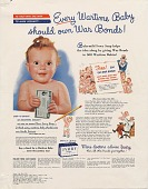 view Every Wartime Baby should own War Bonds! [Print advertising.] General circulation publications digital asset: Every Wartime Baby should own War Bonds! [Print advertising.] General circulation publications 1944