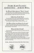 view Ivory Soap Floats! Always Has...Always Will. [Print advertising.] digital asset: Ivory Soap Floats! Always Has...Always Will. [Print advertising.] 1992.