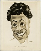 view B. Ten Hoven Caricatures (with Ella Fitzgerald, Others), digital asset: B. Ten Hoven Caricatures (with Ella Fitzgerald, Others),