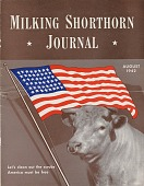 view Milking Shorthorn Journal, August 1942 [reproduction photograph on magazine cover] digital asset: Milking Shorthorn Journal, August 1942 [reproduction photograph on magazine cover].