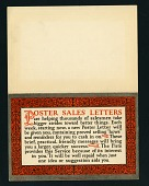 view Mr. and Mrs. F.F. Randolph Poster Collection digital asset: 1, Poster Sales Letters