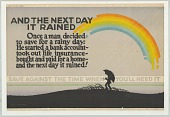 view Emanuel Gerard Collection of Mather and Company Employee Motivation Posters digital asset: And The Next Day It Rained