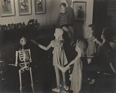 view [Hales maninikin with figurines of children : black-and-white photoprint.] digital asset: [Hales maninikin with figurines of children : black-and-white photoprint.]