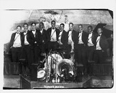 view T[erence] H. Holder's Orchestra [at bottom of image.] [black-and-white photoprint] digital asset: T[erence] H. Holder's Orchestra [at bottom of image.] [black-and-white photoprint].