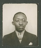 view Portrait of Claude Williams, 1950? [black and white photoprint] digital asset: Portrait of Claude Williams, 1950? [black and white photoprint].