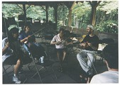 view Claude Williams at Mark O'Conner's fiddle camp in Tennessee, 1998. [color photoprint] digital asset: Claude Williams at Mark O'Conner's fiddle camp in Tennessee, 1998. [color photoprint].