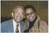 view Claude Williams with second wife Blanche Fouse Williams, 1992. [color photoprint] digital asset: Claude Williams with second wife Blanche Fouse Williams, 1992. [color photoprint].