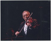 view Claude Williams in concert, Folly Theater, Kansas City, Missouri, ca. 1998. [Color photoprint] digital asset: Claude Williams in concert, Folly Theater, Kansas City, Missouri, ca. 1998. [Color photoprint].