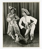 view [Mexican stage performers dancing : black-and-white photoprint] digital asset: [Mexican stage performers dancing : black-and-white photoprint, 1941.]