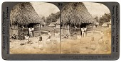 view Homes and Home Occupations of the Natives of Tehuantepec Isthmus, Mexico. [Black-and-white stereograph] digital asset: Homes and Home Occupations of the Natives of Tehuantepec Isthmus, Mexico. [Black-and-white stereograph].