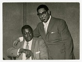 view [Dizzy Gillespie and Oscar Peterson, undated.] [black-and-white photoprint] digital asset: [Dizzy Gillespie and Oscar Peterson, undated.] [black-and-white photoprint].
