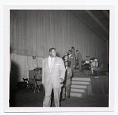 view [Oscar Peterson, Flip Phillips?, Dizzy Gillespie, and others, undated] [Black-and-white photoprint] digital asset: [Oscar Peterson, Flip Phillips?, Dizzy Gillespie, and others, undated] [Black-and-white photoprint].