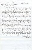 view Hon. Edw. Stanton, Sec'y of War [letter] digital asset: 10 Hon. Edw. Stanton, Sec'y of War [letter].