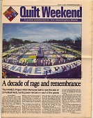 view Quilt Weekend [The Washington Blade newspaper insert]. [Color newspaper] digital asset: Quilt Weekend [The Washington Blade newspaper insert]. [Color newspaper].