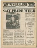 "view BAR / Bay Area Reporter :""Gay Pride Week"" issue, June 12, 1974 [newspaper] digital asset: BAR / Bay Area Reporter :""Gay Pride Week"" issue, June 12, 1974 [newspaper]."