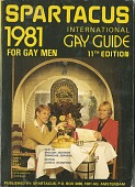 view Spartacus: International Gay Guide for Gay Men, 11th edition, 1981 [book] digital asset: Spartacus: International Gay Guide for Gay Men, 11th edition, 1981 [book].