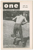 "view ONE: The Homosexual Viewpoint, ""John, Mowing"", April, 1961 [periodical] digital asset: ONE: The Homosexual Viewpoint, ""John, Mowing"", April, 1961 [periodical]."