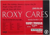 view [Specialty advertisement for Roxy Cares benefit for the Gay Men's Health Clinic]. [color advertisement] digital asset: [Specialty advertisement for Roxy Cares benefit for the Gay Men's Health Clinic]. [color advertisement].