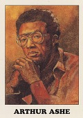 view [AIDS Awareness Card of Arthur Ashe]. [color card] digital asset: [AIDS Awareness Card of Arthur Ashe]. [color card].