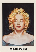 view [AIDS Awareness Card of Madonna : trading card with color reproduction.] digital asset: [AIDS Awareness Card of Madonna : trading card with color reproduction.]