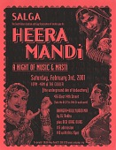 view Heera Mandi / A Night of Music and Masti / ...at The Cooler [color flier] digital asset: Heera Mandi / A Night of Music and Masti / ...at The Cooler [color flier], 2001.