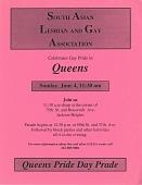 view Queens Pride Day Prade [sic] [color flier digital asset: Queens Pride Day Prade [sic] [color flier, ca. 2000].