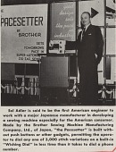 view Article from Behind the Scenes about Sol Adler and the Pacesetter, September, 1955. [black and white] digital asset: Article from Behind the Scenes about Sol Adler and the Pacesetter, September, 1955. [black and white].