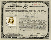view Clotilde Arias Papers digital asset: Identity and migration documents