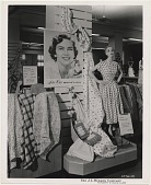 view Maid of Cotton, 1953, Alice Corr. [black and white photograph] digital asset: Maid of Cotton, 1953, Alice Corr. [black and white photograph].