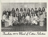 view Finalists: 1973 Maid of Cotton Selection. [black and white photoprint] digital asset: Finalists: 1973 Maid of Cotton Selection. [black and white photoprint].