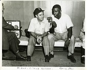 view [Photographer Barney Stein with Jackie Robinson : black-and-white photoprint] digital asset: [Photographer Barney Stein with Jackie Robinson : black-and-white photoprint, ca. 1960.]