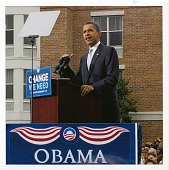 view Barack Obama speaking while standing [at] a podium, La Crosse, Wisconsin, 2008 October 1 [digital color photoprint] digital asset: Barack Obama speaking while standing [at] a podium, La Crosse, Wisconsin, 2008 October 1 [digital color photoprint].