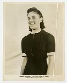 view Helen Elizabeth Jones [trombonist with the International Sweethearts of Rhythm] [black-and-white photoprint] digital asset: Helen Elizabeth Jones [trombonist with the International Sweethearts of Rhythm] [black-and-white photoprint].