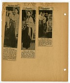 view [Clippings (3) from Chicago Defender: on scrapbook page] digital asset: [Clippings (3) from Chicago Defender: on scrapbook page].