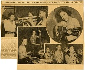 view Sweethearts of Rhythm to Make Debut in New York City's Apollo Theatre. [Black-and-white newspaper clipping] digital asset: Sweethearts of Rhythm to Make Debut in New York City's Apollo Theatre. [Black-and-white newspaper clipping].