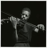 "view Ornette Coleman at his September 9, 1966 session for ""The Empty Foxhole"" (Blue Note) at the Van Gelder studio, New Jersey [black-and-white photoprint] digital asset: Ornette Coleman at his September 9, 1966 session for ""The Empty Foxhole"" (Blue Note) at the Van Gelder studio, New Jersey [black-and-white photoprint]."