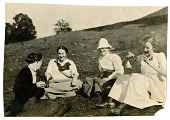 view [Sandford women sitting on a hill, [photoprint] digital asset number 1