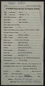 view Solomon A. Card, Jr. United States Army Chaplain Papers digital asset: Transcript of birth